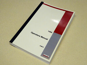 case 1494 tractor operators manual owners maintenance book new ebay rh ebay com Owner Manual Case Zipper case 1494 service manual