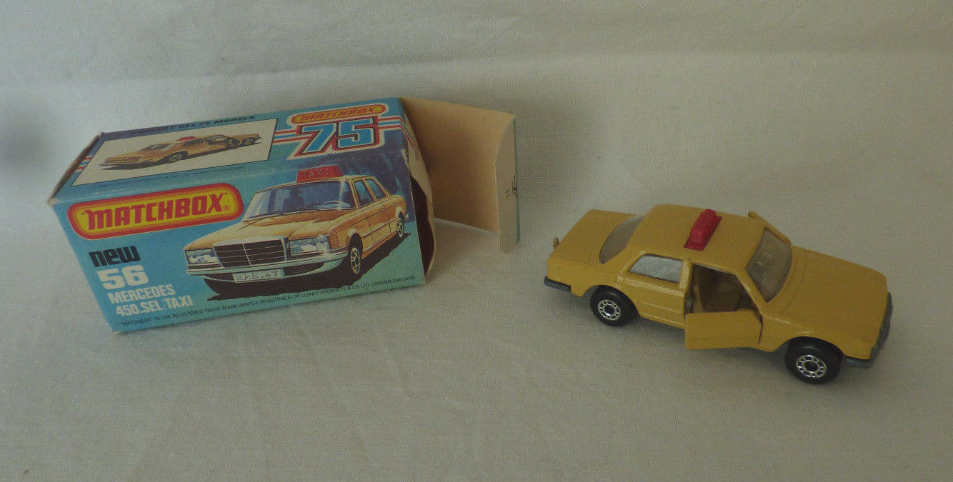 Matchbox  Superfast - 56 Mercedes 450.SEL   Taxi    - Made in England - OVP -  | Beliebte Empfehlung