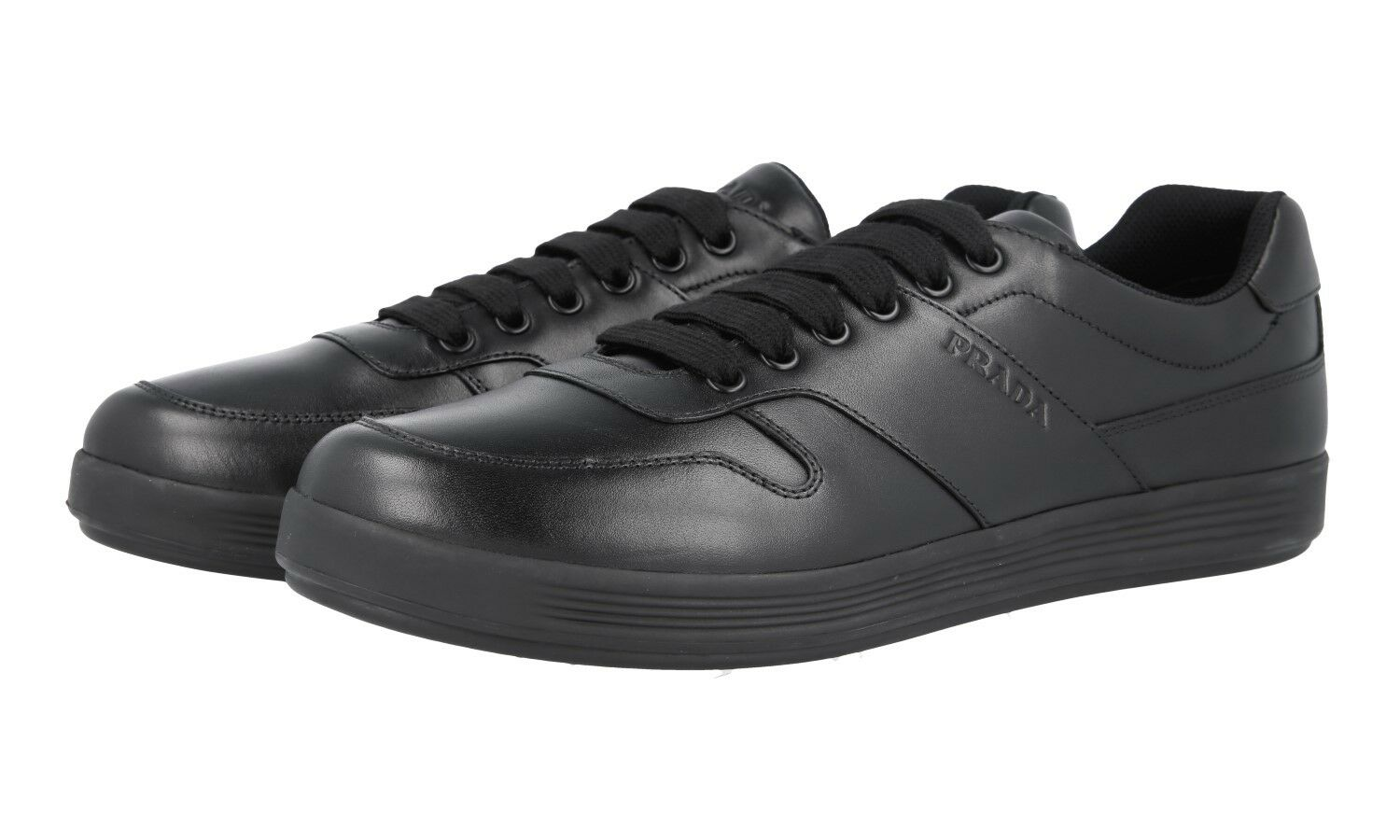 AUTH LUXURY PRADA TRAINERS SHOES 4E3367 BLACK NEW 8,5 42,5 43
