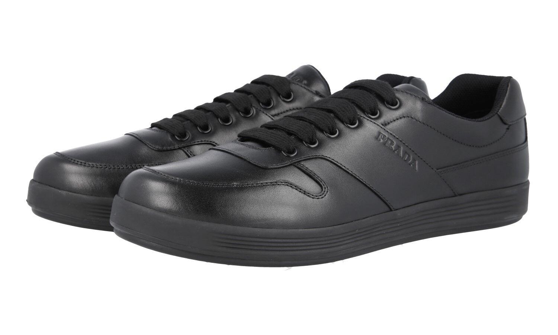 Auth LUXURY PRADA scarpe da ginnastica 4E3367 NERO NUOVO 9 43 43,5