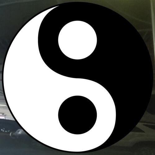 Yin and Yang Ying Yang Vinyl Cut Sticker Car Window Element Chinese Taijitu Rare