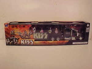 KISS-Kenworth-W900-Semi-Truck-Tractor-Trailer-Diecast-Plastic-1-43-NewRay-16inch