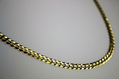 10k Gold Cuban Link Chain >> 10k Solid Gold Cuban Link Chain Necklace For Everyone 2 5mm 3 7mm 16 30 Ebay