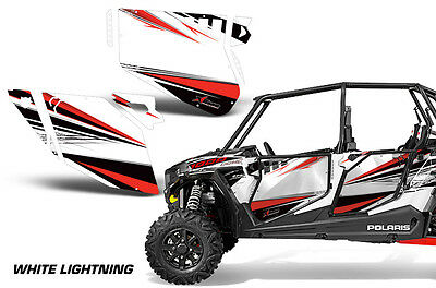 AMR Racing Graphic Wrap Kit Polaris RZR 1000 UTV OEM Door Insert 2018 GHOST GRAY