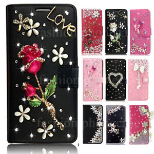 Luxury Bling Diamond Crystal Flip Leather Wallet Case for iPhone 12 Pro Max 11 8