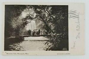 Postcard-Minnehaha-Falls-Minneapolis-Minnesota-People-on-Bridge-1906