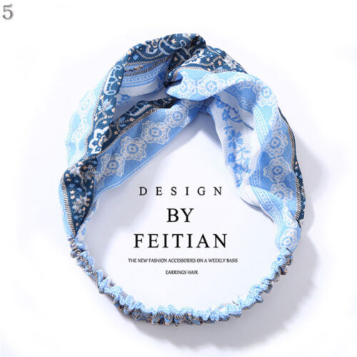 Fashion Women/'s Turban Twist Knot Head Wrap Headband Twisted Knotted Hair Band