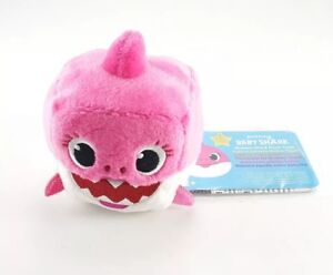 WowWee-Pinkfong-Baby-Shark-Singing-Pink-Plush-Sound-Cube-ENGLISH-Stuffed-NEW