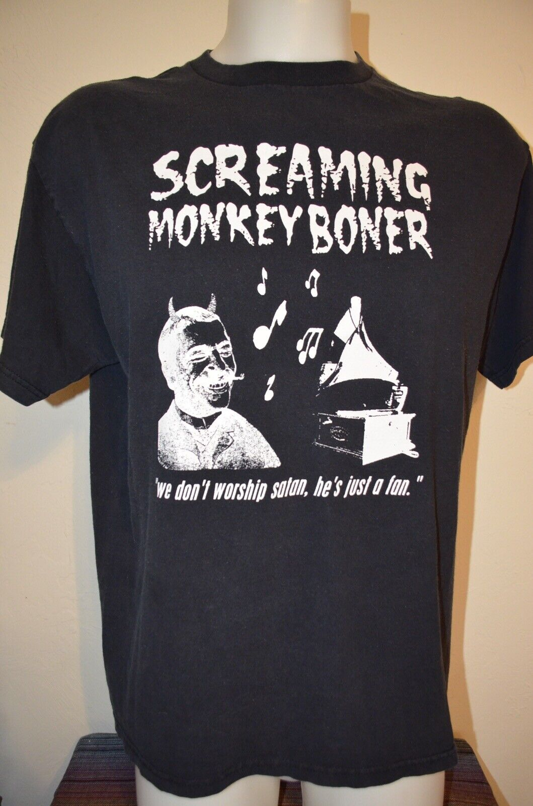 Screaming Monkey Boner Worship Satan NIN Metal Sy… - image 2