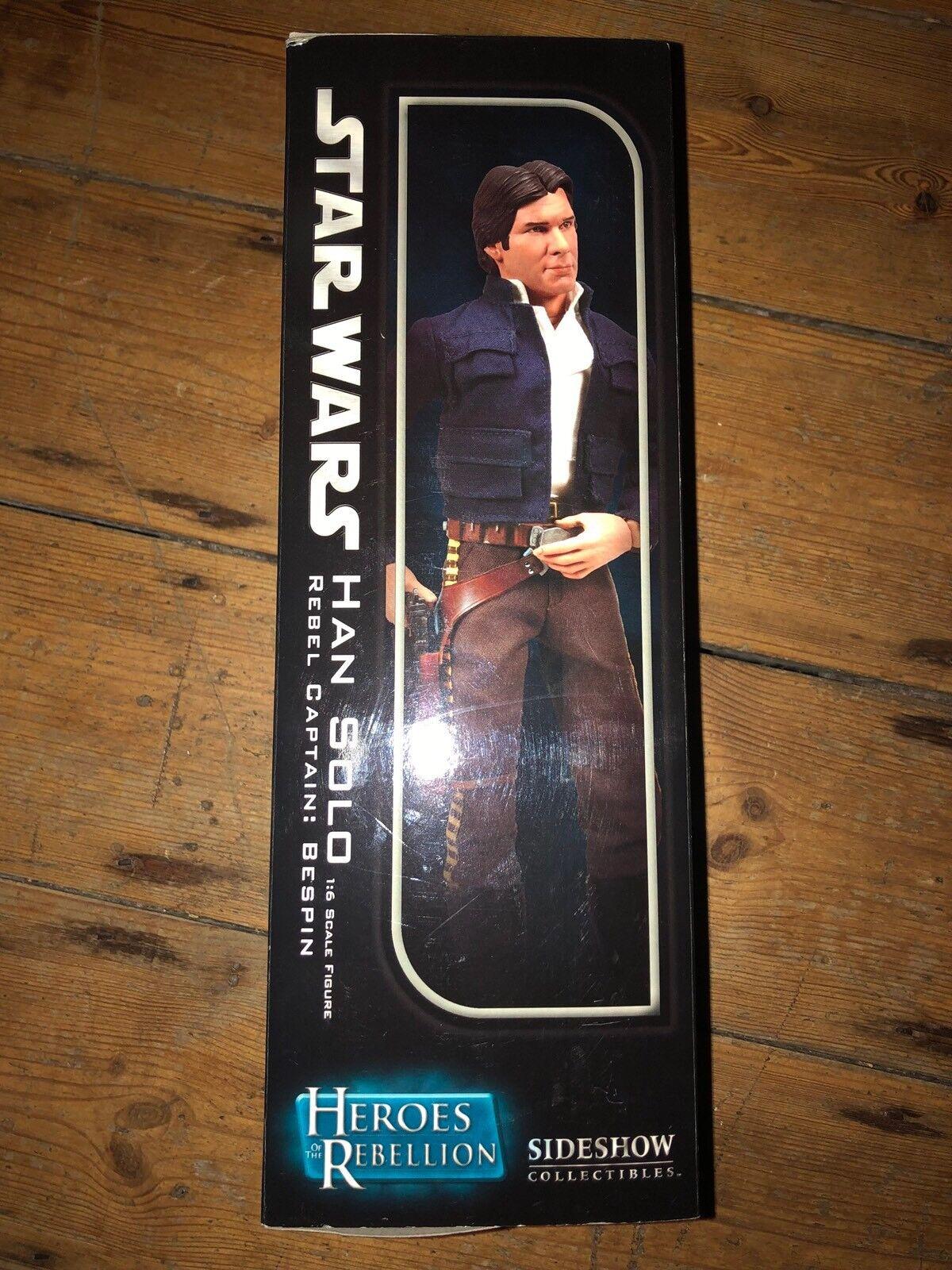 Sideshow Star Wars Heroes Of The Rebellion Han Solo Rebel Rebel Rebel Captain  Bespin C509 cbf763