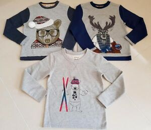 New-Boys-Designer-Angel-and-Rocket-Autumn-Winter-Jumper-Next-Christmas-Age-3-10