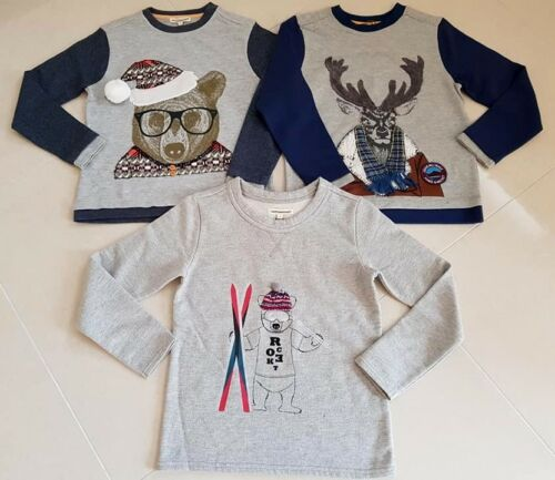 New Boys Designer Angel and Rocket Autumn Winter Jumper Next Christmas Age 3-10