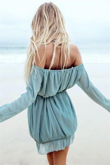 Sabo Skirt Verona Off Shoulder Dress M- Vici Dolls