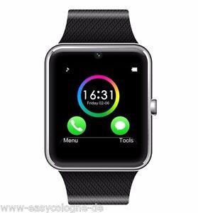 SeaKingAlpha-GT08-SmartWatch-Armband-Uhr-fuer-Android-Silber-Bluetooth-Wireless