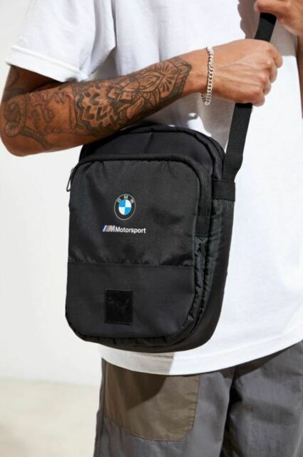 NEW PUMA BMW M MOTORSPORT CROSSBODY MESSENGER SHOULDER BAG #075747 BLACK