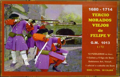 BUM Models 1//72 FUSILIERS OF PHILIP V WITH CANNON Figure Set