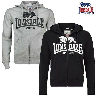 Lonsdale Hombres Zip Hoody Krafty Punto Sudadera Suéter Boxing S hasta 3XL | eBay