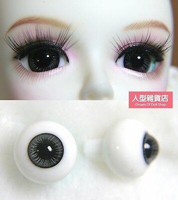 14mm  For BJD DOD AOD MK OK RD Doll Dollfie Glass Eyes Outfit drak grey 26