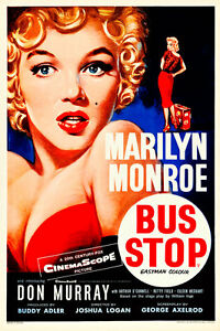 Marilyn Monroe Bus Stop Movie Poster A1 High Quality Canvas Art Print