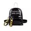 Mini Rucksack Damen Mädchen Transparent Handtasche Durchsichtig Anhänger Schwarz