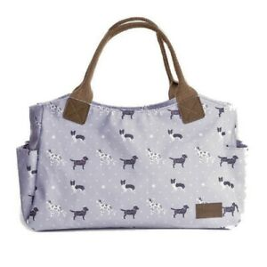 Grey-Tote-Handbag-Bag-Canvas-Handles-Gifts-Dalmatians-Labrador-Collies-Dog-Gift