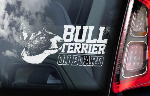 Bull Terrier Auto Aufkleber,Scheckig Hund Fenster Schild Aufkleber Geschenk