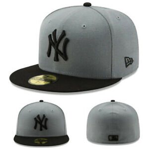 6d5d1ec9041 New Era New York Yankees Black Grey Kids 5950 Fitted Hat Youth Child ...