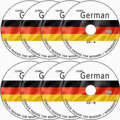 LEARN HOW TO SPEAK GERMAN COMPLETE LANGUAGE COURSE TUTORIALS GUIDE ON 8 AUDIO CD