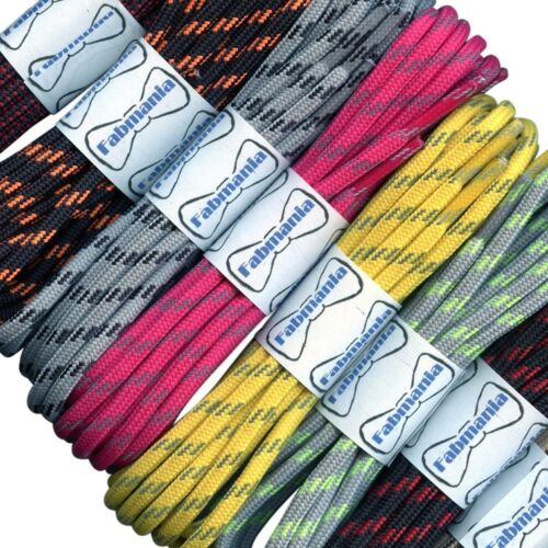 Hiking Boot Laces Black with White Flecks 4 mm round