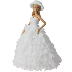 Princess-Evening-Wedding-Party-Clothes-Wears-Dress-Outfit-Set-For-Barbie-Doll