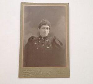 Cabinet-Card-Photo-Albion-NY-Vintage-Antique-Photo-Burnette-Lent-Heacock