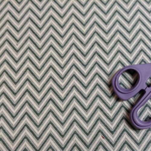 Grand Chevron  Jacquard Green//Ivory  Curtain//Upholstery//Craft Fabric