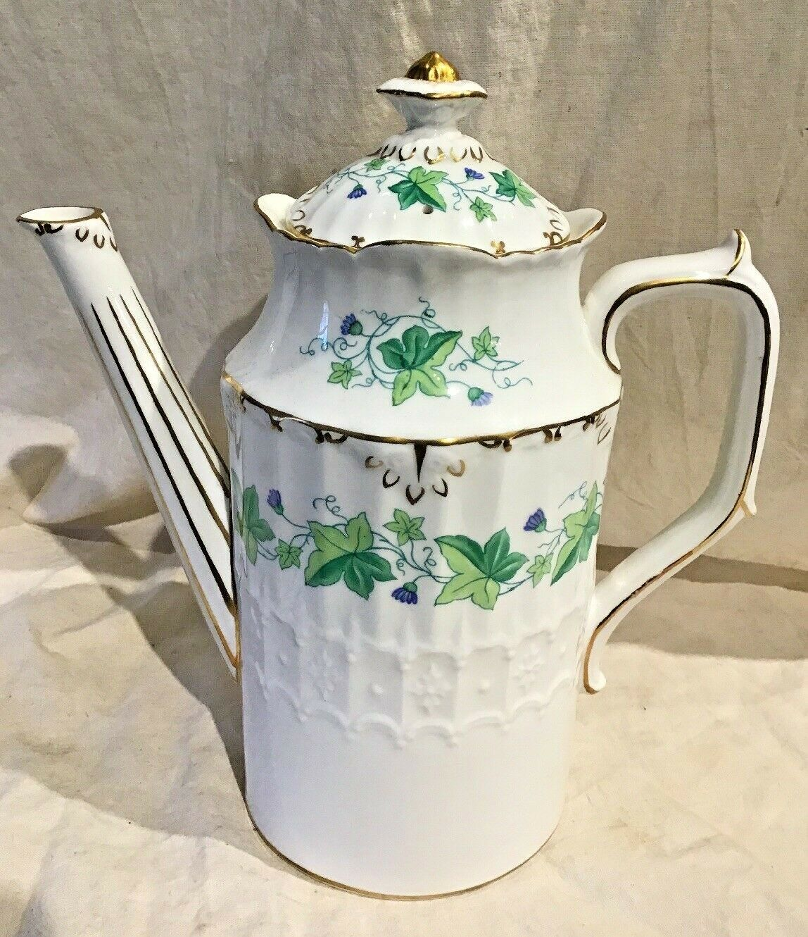 Royal crown derby Medway Vert Ivy coffee pot EXC Cond belle forme