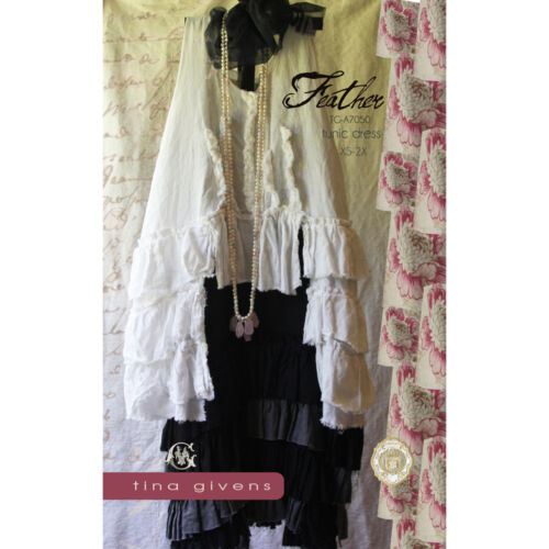"TINA GIVENS /""FEATHER TUNIC DRESS/"" Sewing Pattern"