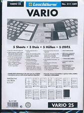 LIGHTHOUSE 25 VARIO STOCK SHEETS 2S TWO POCKET BLACK BACKGROUND
