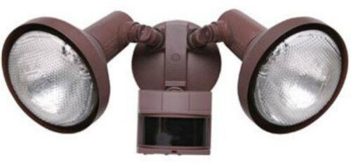 Heath Zenith HZ-5326-RS Motion-Sensing Twin Outdoor Security Light Rust Finish