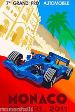2011 Monaco Grand Prix Automobile Race Car Advertisement Vintage Poster