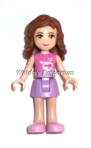 3184 Lego Friends MiniFigure Dk Pink Top 3315 OLIVIA Med Lavender Skirt New