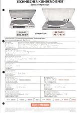 Nordmende Original Service Manual für Phono RP 983 / 1653