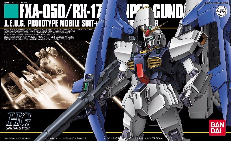 Bandai Hguc 1 144 Fxa-05d + Rx-178 Super Gundam Modello Plastica Kit Z Giappone