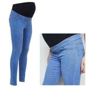 Maternity-New-Look-Oltre-Bump-Jeggings-Blu-Jeans-Taglie-8-20
