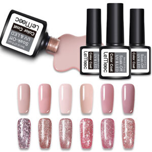 LEMOOC-8ml-Glitter-Soak-Off-UV-Gel-Rose-Gold-Color-Nail-Art-Polish