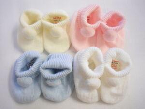 BABY ANKLE SOCKS POM POM BOBBLE UNISEX BOYS GIRLS WHITE PINK BLUE CLOTHING NEW