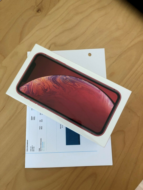 iPhone XR, 64 GB, rød, Perfekt, UÅBNET iPhone XR 64gb fra…