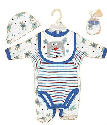 Neu Baby Jungen 5tlg.strampler Set Gr.56 62 68 Englandmode