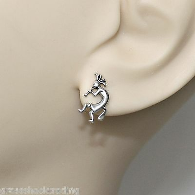 925 Sterling Silver Ear Studs Seahorse Earrings Made USA