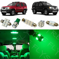 6x Green LED lights interior package kit for 2005-2014 Nissan Xterra NX1G