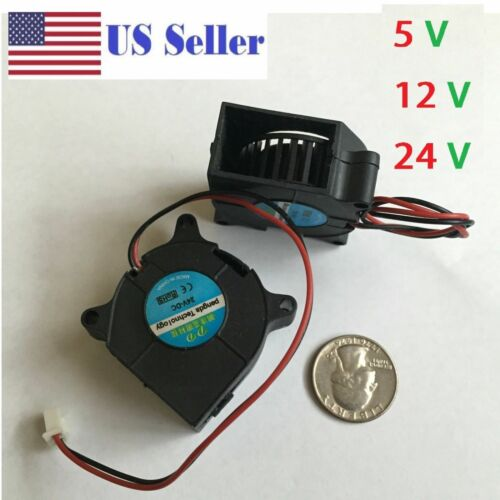 5V 12V 24V 40mm Blower Fan 4020 40mmx20mm Turbo Cooling 3D Printer  2pin