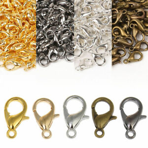 50pc-Metal-Lobster-Fasteners-Claw-Clasp-Hook-Clip-Buckle-Necklace-Jewelry-Making