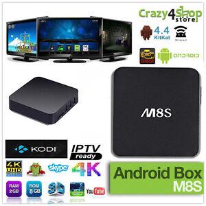 Details about ANDROID BOX M8S 4K TV BOX SMART TV IPTV QUAD CORE RAM 1GB  MINI PC WIFI M8 S812